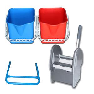 kit de lavage 2x22 lt avec presse pour chariots de nettoyage mat riel polypropyl ne aluminium a. Black Bedroom Furniture Sets. Home Design Ideas