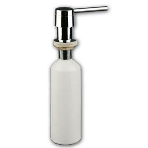 Doseur de savon liquide encastrable 400 ml laiton crom et for Porte savon encastrable
